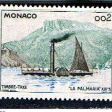 Sellos: MONACO // YVERT 57 TASA // 1960 ... USADO ... BARCO LA PALMARIA. Lote 207105233