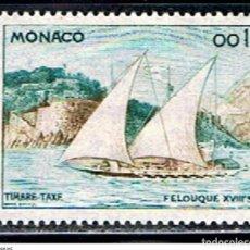 Sellos: MONACO // YVERT 56 TASA // 1960 ... . BARCO. Lote 207105413