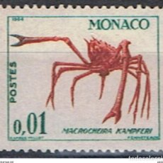 Sellos: MONACO // YVERT 537 A // 1960-65 ... NUEVO .. FAUNA. CANGREJO. Lote 207198916