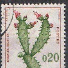Sellos: MONACO // YVERT 543 // 1960-65 ... USADOS. FLORA : NOPALEA DEJECTA. Lote 207199075