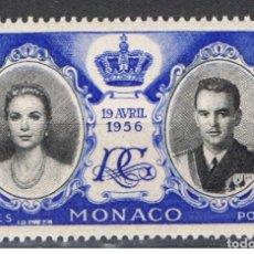 Sellos: MONACO // YVERT 475 // 1956 ... NUEVO. ... BODA REAL. Lote 207200893