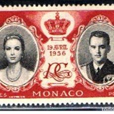 Sellos: MONACO // YVERT 474 // 1956 ... NUEVO. ... BODA REAL. Lote 207201091