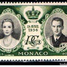 Sellos: MONACO // YVERT 473 // 1956 ... NUEVO. ... BODA REAL. Lote 207201243