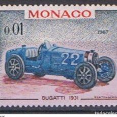 Sellos: MONACO // YVERT 708 // 1967 ... NUEVO. COCHE ANTIGUO: BUGATTI 1931. Lote 207201738