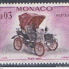 Sellos: MONACO // YVERT 559 // 1961 ... NUEVO. COCHE ANTIGUO: FIAT 1901. Lote 207201936