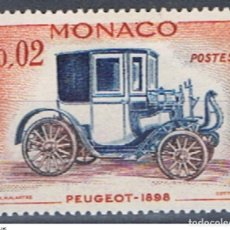 Sellos: MONACO // YVERT 558 // 1961 ... NUEVO. COCHE ANTIGUO: PEUGEOT 1898. Lote 207202056