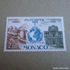 Francobolli: MONACO 1976, YVERT Nº 966**, INTERPOL Y POLICIA JUDICIAL. Lote 209030857