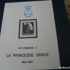 Sellos: MINIPLIEGO N. 24 DE 1983 PRINCESA GRACE. Lote 210410958