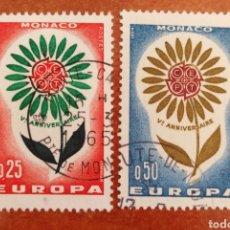 Sellos: MONACO, EUROPA CEPT 1964 USADOS (FOTOGRAFÍA REAL). Lote 212504475