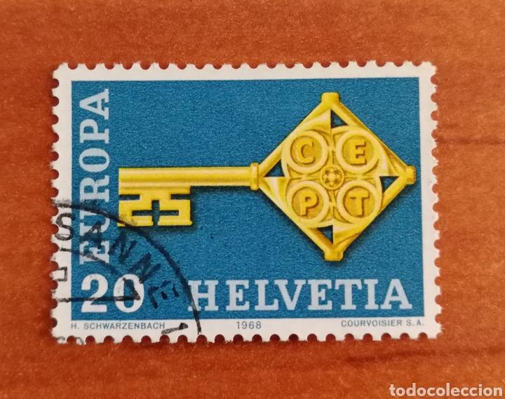 SUIZA, EUROPA CEPT 1968 USADA (FOTOGRAFÍA REAL) (Sellos - Extranjero - Europa - Mónaco)