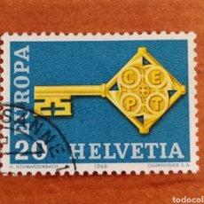 Sellos: SUIZA, EUROPA CEPT 1968 USADA (FOTOGRAFÍA REAL). Lote 212627341