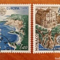 Sellos: MONACO, EUROPA CEPT 1978 USADA (FOTOGRAFÍA REAL). Lote 213605500