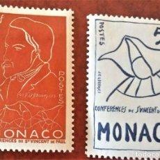 Timbres: MÓNACO. 399/400 CENTENARIO MUERTE DE FRÉDÉRIC OZANAM, CREADOR CONFERENCIA DE SAN VICENTE DE PAÚL. 19. Lote 213685802