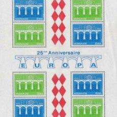 Sellos: MÓNACO 1984 HB IVERT 28 *** EUROPA - 25º ANIVERSARIO CONFERENCIA EUROPEA CORREOS Y TELECOMUNICACIÓN. Lote 213887203