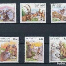 Sellos: MONACO 1986 IVERT 1522/7 *** FAUNA - ANIMALES DEL PARQUE NATURAL DEL MERCANTOUR. Lote 213887518