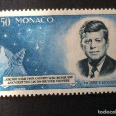 Sellos: MONACO Nº YVERT 658*** AÑO 1964. ANIVERSARIO MUERTE PRESIDENTE J,F,KENNEDY. Lote 214142596