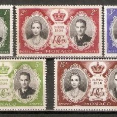 Timbres: MÓNACO. 1956. YT 473/477. Lote 215646286