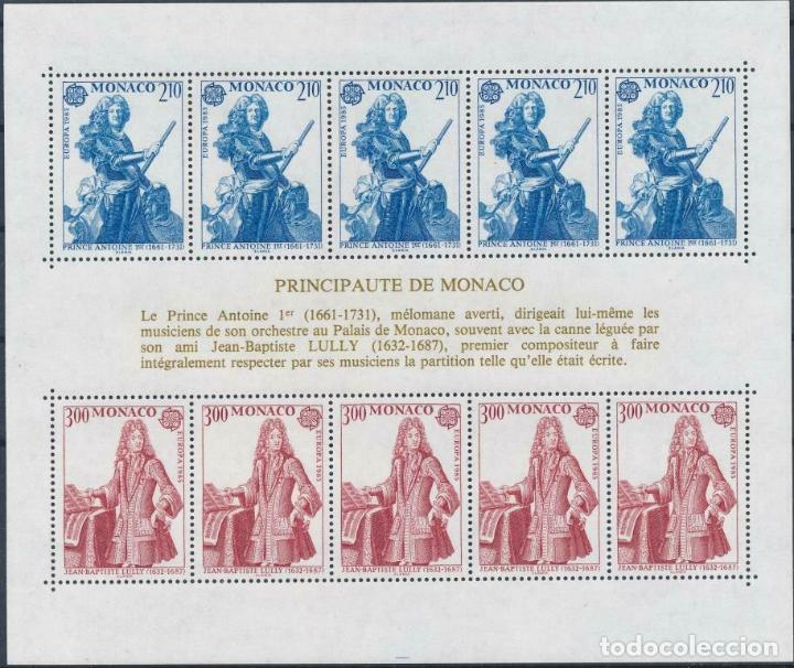 MONACO 1985 HB IVERT 30 *** EUROPA - AÑO EUROPEO DE LA MÚSICA (Sellos - Extranjero - Europa - Mónaco)