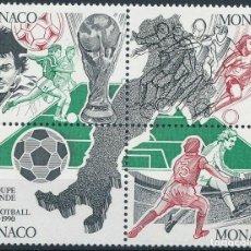 Sellos: MONACO 1990 IVERT 1726/9 *** COPA DEL MUNDO DE FUTBOL - ITALIA-90 - DEPORTES. Lote 215893175