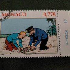 Sellos: TINTIN SELLOS - SELLO FDS PRIMER DIA - MONACO 2012 - NUMERADA. Lote 217372960