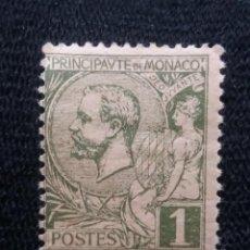 Sellos: MONACO, 1C, PRINCIPE ALBERT, AÑO 1891.SIN USAR. Lote 217374527
