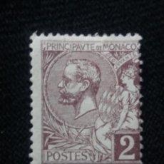 Sellos: MONACO, 2C, PRINCIPE ALBERT, AÑO 1891.SIN USAR. Lote 217375156
