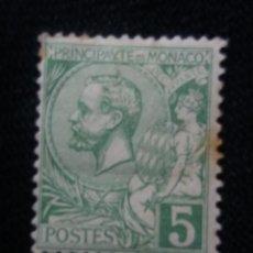 Sellos: MONACO, 5, PRINCIPE ALBERT, AÑO 1891.SIN USAR. Lote 217375347