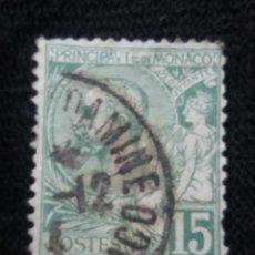 Sellos: MONACO, 15C, PRINCIPE ALBERT, AÑO 1891.. Lote 217375782