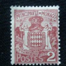 Sellos: MONACO, 2C, ESCUDO ARMAS, AÑO 1924. SIN USAR. Lote 217375986