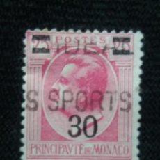 Sellos: MONACO, 25C, PRNCIPE LOUIS II, AÑO 1924. SOBREESCRITO. Lote 217376363