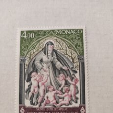 Sellos: MONACO 1976 RED CROSS FUND / ST LOUISE / SAINTS / HEALTH / WELFARE 1V (N34188). Lote 217678512