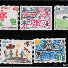 Sellos: MONACO 1181/85** - AÑO 1979 - AÑO INTERNACIONAL DEL NIÑO. Lote 221581021