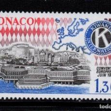 Sellos: MONACO 1230** - AÑO 1980 - CONVENCIÓN EUROPEA DE KIWANIS INTERNACIONAL. Lote 221581451