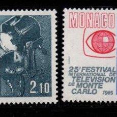 Sellos: MONACO 1446/47** - AÑO 1984 - 25º ANIV. DEL FESTIVAL INTERNACIONAL DE TELEVISION DE MONTE CARLO. Lote 221581945