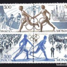 Sellos: MONACO 1991 - JUEGOS OLIMPICOS DE BARCELONA Y ALBERTVILLE - YVERT Nº 1770/1773**. Lote 221698300