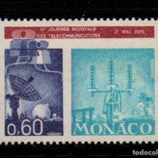 Sellos: MONACO 926** - AÑO 1973 - DIA MUNDIAL DE LAS TELECOMUNICACIONES. Lote 221798921