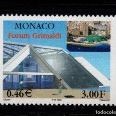 Sellos: MONACO 2202** - AÑO 1999 - ARQUITECTURA - FORUM GRIMALDI. Lote 221800180