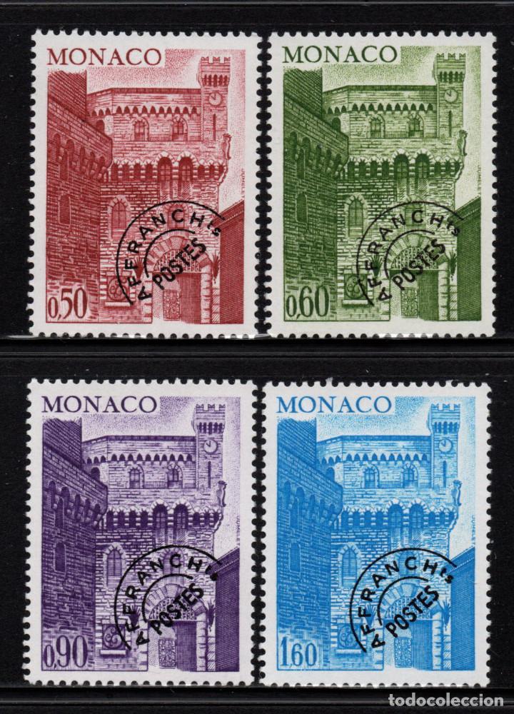 MÓNACO PREOBLITERADO 38/41** - AÑO 1976 - TORRE DEL RELOJ (Sellos - Extranjero - Europa - Mónaco)