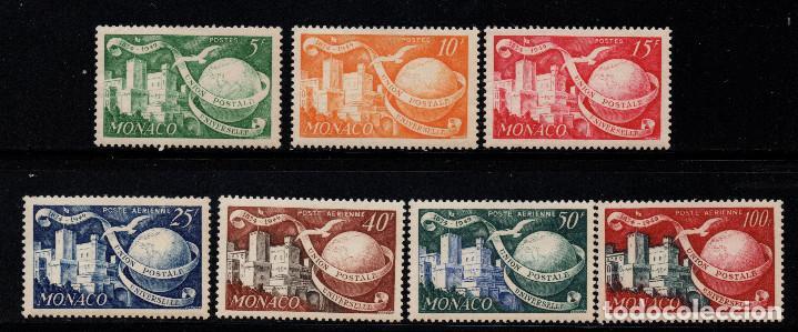 MÓNACO 332/33 Y AÉREO 45/48** - AÑO 1949 - 75º ANIVERSARIO DE LA UNION POSTAL UNIVERSAL (Sellos - Extranjero - Europa - Mónaco)