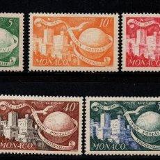 Sellos: MÓNACO 332/33 Y AÉREO 45/48** - AÑO 1949 - 75º ANIVERSARIO DE LA UNION POSTAL UNIVERSAL. Lote 222349542