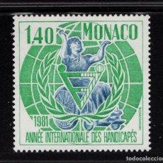 Sellos: MONACO 1276** - AÑO 1981 - AÑO INTERNACIONAL DEL MINUSVALIDO. Lote 222349703