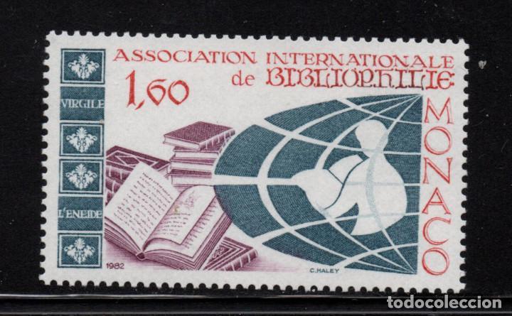 MONACO 1358** - AÑO 1982 - ASAMBLEA DE LA ASOCIACIÓN INTERNACIONAL DE BIBLIOFILIA (Sellos - Extranjero - Europa - Mónaco)