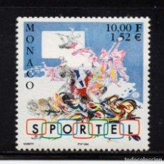 Sellos: MONACO 2214** - AÑO 1999 - 10º ANIVERSARIO DE SPORTEL. Lote 222571578
