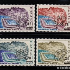 Sellos: MONACO PREOBLITERADO 34/37** - AÑO 1975 - PUERTO NAUTICO RAINIERO III. Lote 222572030