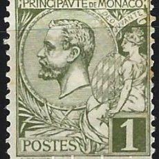 Timbres: MÓNACO 1891-94 - PRÍNCIPE ALBERTO I - MINT SIN GOMA. Lote 223209928