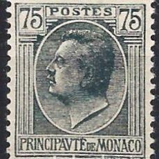 Timbres: MÓNACO 1924-39 - PRÍNCIPE LUIS II, 75 C. GRIS - MH*. Lote 223214176