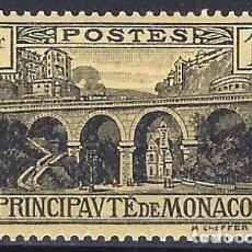 Timbres: MÓNACO 1925-27 - VIADUCTO, NEGRO SOBRE AMARILLO DE 1 FR. - MH*. Lote 223214738
