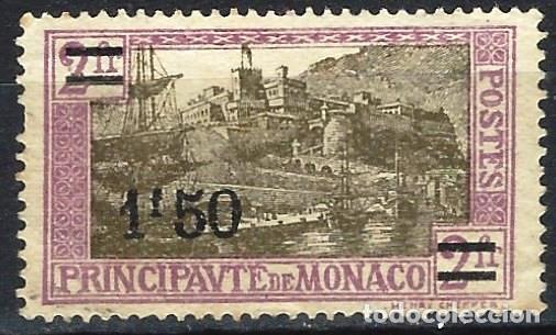 MÓNACO 1928 - VIADUCTO, SOBRECARGADO - MINT SIN GOMA (Sellos - Extranjero - Europa - Mónaco)
