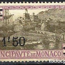 Timbres: MÓNACO 1928 - VIADUCTO, SOBRECARGADO - MINT SIN GOMA. Lote 223215448