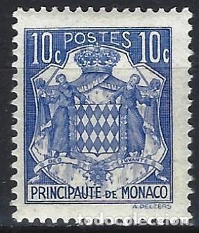 MÓNACO 1938-39 - ESCUDO DE ARMAS - MH* (Sellos - Extranjero - Europa - Mónaco)